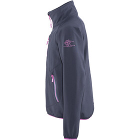 Bergans Kjerag Jacket Youth Girls Navy/Steel Blue/Pink Rose